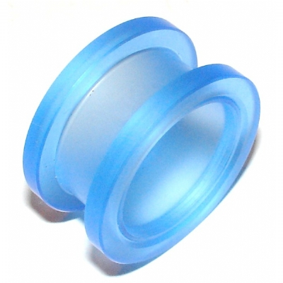 Large Gauge Blue Acrylic Screw On Flesh Tunnel 22mm - 30mm
