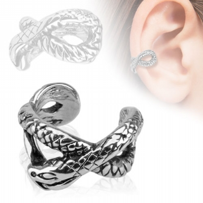 Snake Clip On Fake Helix Ear Cuff