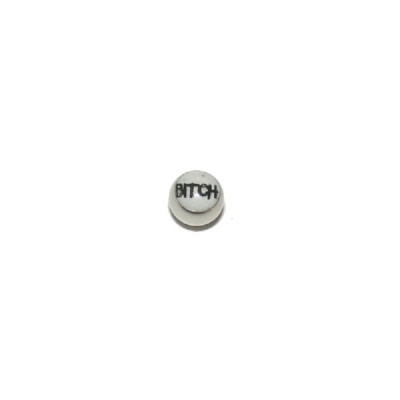Bitch Logo Ball For 1.6mm Body Bars