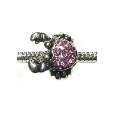 Pink Crab - Single Bead