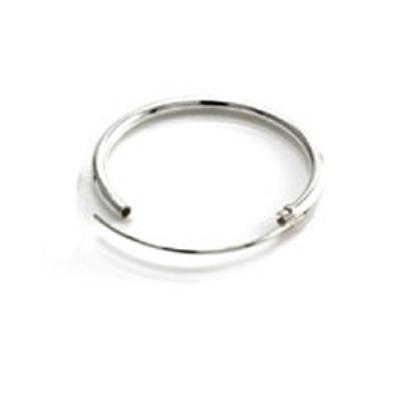 Sterling Silver Hinged Nose Ring Hoop