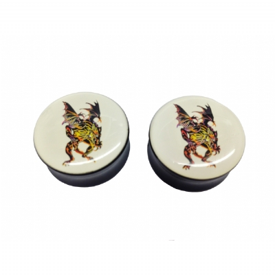 Tattoo Dragon Saddle Plug