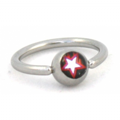 New Style Star Logo Ball Closure Nipple / Belly Ring