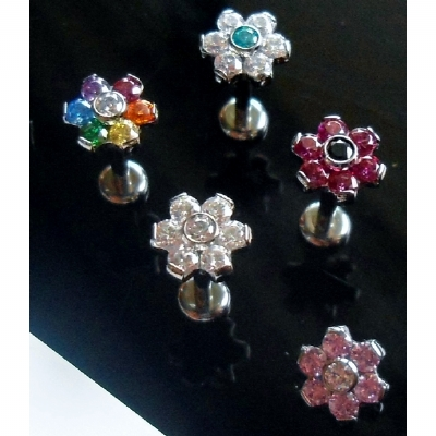 IN STOCK - Industrial Strength Flower Labret Stud