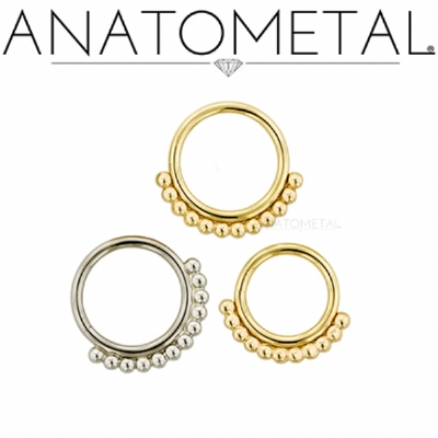Anatometal 18ct Yellow Gold Vaughn Seam Ring