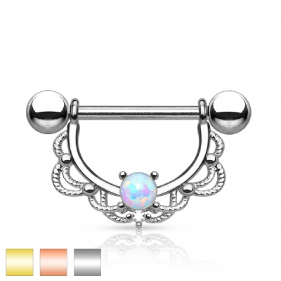 Opal Filigree Nipple Shield & Bar