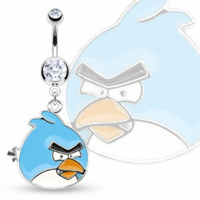 Angry Birds Enamel Dangle Belly Bar