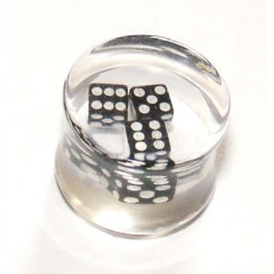 Floating Dice Clear Acrylic Saddle Plug