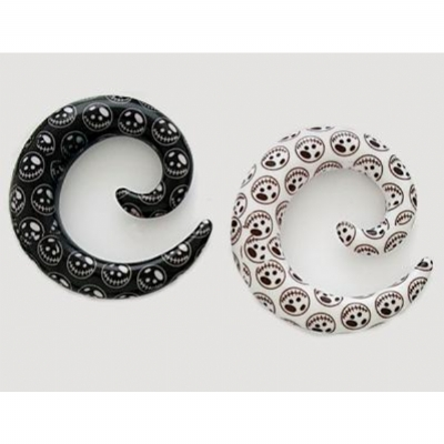 Nightmare Acrylic Ear Spiral 3mm-10mm