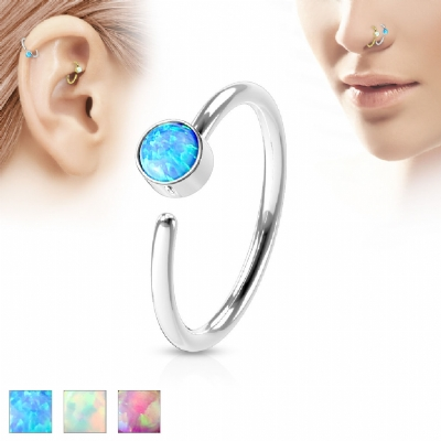 Opal Surgical Steel Nose Ring