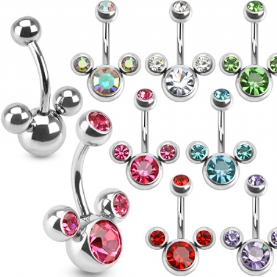 Crystal Mickey Belly Bar