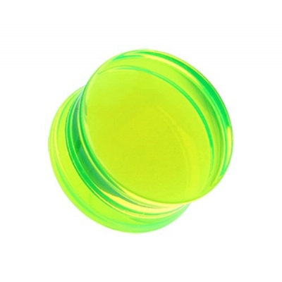 Giant Gauge UV Green Flared Acrylic Ear Plug 32mm, 38mm