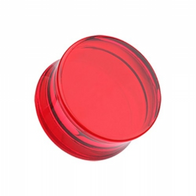 Giant Gauge Red Flared Acrylic Ear Plug 32mm, 38mm