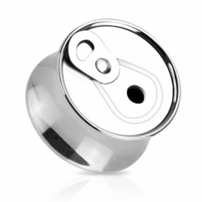 Beer / Soda Can Top Surgical Steel Saddle Plug