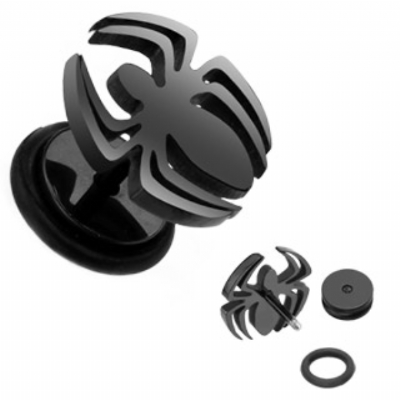 Spider Black Steel Fake Plug