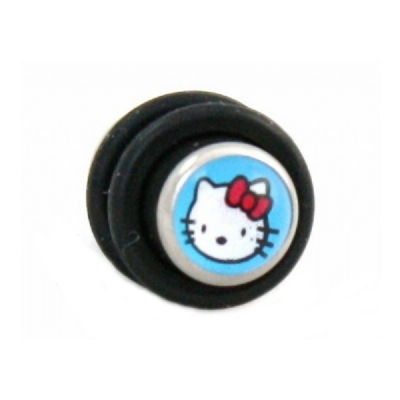 Kitty Logo Picture Surgical Steel Plug 5mm - 8mm