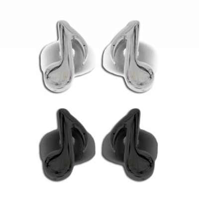 Surgical Steel Music Note Stud Earring - Single