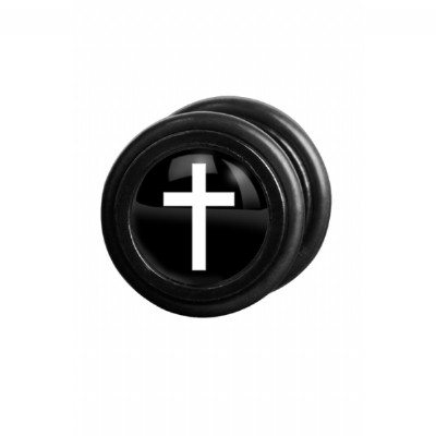 White Cross Logo Fake Plug